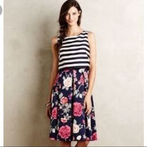 Anthropologie Moulinette Sears Split floral dress
